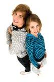 lyckliga tonåringar Fotografering för Bildbyråer