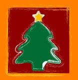 lyckliga trees för jul Arkivbild