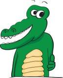 Lyckliga tummar up alligatorn Royaltyfri Bild