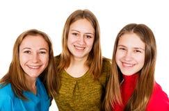 Lyckliga unga systrar Royaltyfria Foton