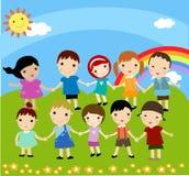 lyckliga ungar Arkivbilder