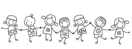 lyckliga ungar vektor illustrationer