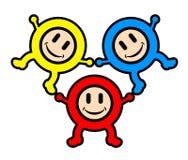 lyckliga ungar för färg Royaltyfria Bilder