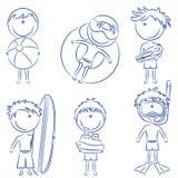lyckliga ungar för strand Royaltyfria Bilder