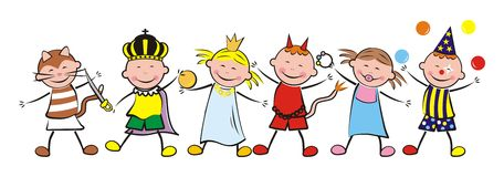 Lyckliga ungar och karneval Royaltyfri Fotografi