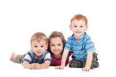 lyckliga ungar tre Fotografering för Bildbyråer