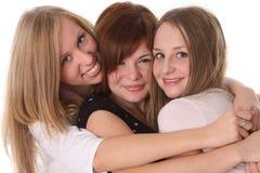 lyckliga vänner Royaltyfri Fotografi