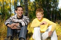 lyckliga vänner Royaltyfria Foton