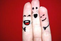 lyckliga vänner Arkivbilder