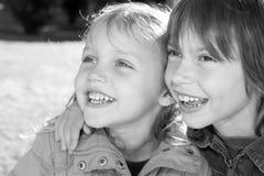 lyckliga vänner little arkivbilder