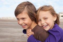 lyckliga vänner little royaltyfri bild