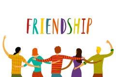 lyckliga vänner tillsammans Royaltyfri Fotografi