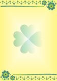 lyckliga växter av släkten Trifolium Arkivbild