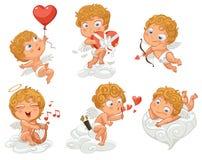 Lyckliga valentin dag vektor illustrationer