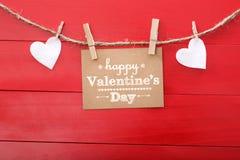 Lyckliga valentin dag! Arkivfoto
