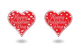 Lyckliga valentin dag hjärtaillustration vektor illustrationer
