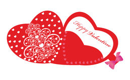 Lyckliga valentin kort. Royaltyfri Foto