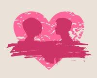 Lyckliga valentindag- och bröllopdesignbeståndsdelar Splittrad hjärta Arkivbild