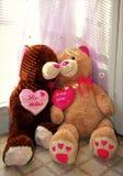 Lyckliga Valentine& x27; s-dagbjörnar Fotografering för Bildbyråer