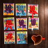 lyckliga valentiner för bakgrundsdag Sankt begrepp för dag för valentin` s Kan användas för berömvalentindag Arkivfoto