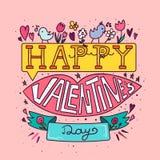 lyckliga valentiner för dag royaltyfri illustrationer