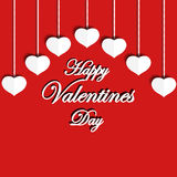 lyckliga valentiner för dag Hälsa uttryck Royaltyfria Bilder