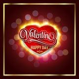 lyckliga valentiner för dag Idérikt grafiskt meddelande för dig design Vektor suddighet bakgrund royaltyfri illustrationer