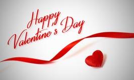 lyckliga valentiner för dag Röd hjärta Förälskelse Arkivfoton