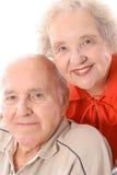 lyckliga vertikala headshotpensionärer Royaltyfri Fotografi