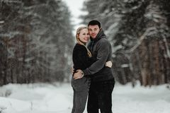 Lyckliga vinterlopppar royaltyfri fotografi