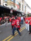 Lyckliga Washington Capitals Fans Royaltyfria Foton