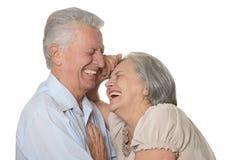 Lyckligt äldre folk royaltyfria bilder