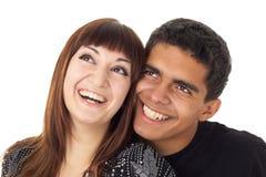 lyckligt älska för par Fotografering för Bildbyråer