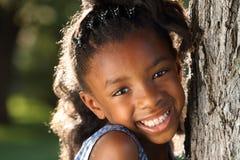 lyckligt afro barn Arkivfoton