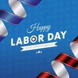 lyckligt arbete för dag Blå lutningbakgrund Våg flagga Röda och blåa lutningband bakgrund 3d gears white vektor Arkivfoton
