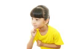 Lyckligt asiatiskt flickaleende royaltyfri fotografi