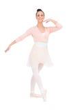 Lyckligt attraktivt posera för ballerina fotografering för bildbyråer