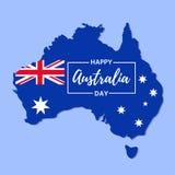 Lyckligt Australien dagbaner också vektor för coreldrawillustration Symbol av 2014 royaltyfri illustrationer