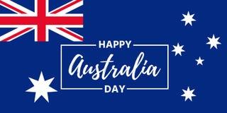 Lyckligt Australien dagbaner också vektor för coreldrawillustration Symbol av 2014 vektor illustrationer