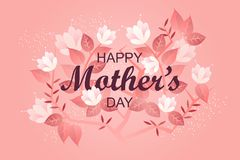 Lyckligt baner för dag för moder` s ferie för eps-mapp för 8 kort greeting bland annat mall Blommor Royaltyfri Bild