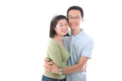 lyckligt barn för asiatiska par Royaltyfria Bilder