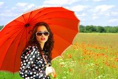 lyckligt barn för brunett Royaltyfria Bilder