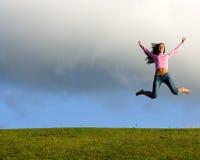 lyckligt barn för härlig flicka Arkivbild
