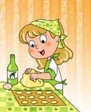 lyckligt barn för kock Fotografering för Bildbyråer