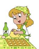 lyckligt barn för kock Arkivfoto