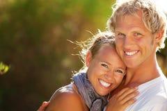 lyckligt barn för par Arkivfoto