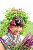 Lyckligt barn i sommar Lyckliga barn sunda ungar Fotografering för Bildbyråer