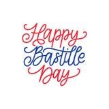 Lyckligt begrepp för Bastilledag Färgbakgrund av den franska nationsflaggan 14th Juli design för hälsningkortet, affischen etc. Arkivbild