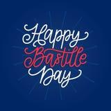 Lyckligt begrepp för Bastilledag Färgbakgrund av den franska nationsflaggan 14th Juli design för hälsningkortet, affischen etc. Royaltyfri Foto