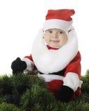 Lyckligt behandla som ett barn Santa Arkivfoto